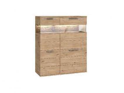 Dkk Klose Kollektion K20 Kastenmöbel Highboard Schrank geölt oder mit Wachseffektlack Kommode für Wohnzimmer oder Esszimmer mit Glastüren Anrichte Größe Ausführung und Zubehör wählbar - Vorschau 4