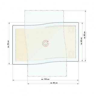 Venjakob Couchtisch 4078-7519 mit Bodenplatte in Wildeiche hell geölt Massivholz und Tischplatte aus Kristallglas Wohnzimmertisch ca. 110 x 70 cm für Ihr Wohnzimmer ***am Lager*** - Vorschau 2