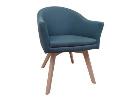 DKK Klose Stuhl S81 in vielen Bezügen und Holzfarbtönen erhältlich für Wohnzimmer oder Esszimmer bequeme und hochwertige Polsterung im Sitz und Rücken