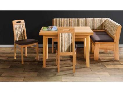 DKK Klose 3033 Eckbank Wunschbank E30 System, zweimal Stuhl 30305 und Tisch 30320 für Esszimmer Bezug wählbar