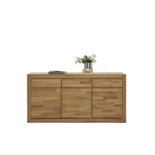 Elfo-Möbel Delft Sideboard 6210 mit 3 Schubkästen 3 Türen in Holz Massivholz Kernbuche für Wohnzimmer oder Schlafzimmer - Vorschau 3