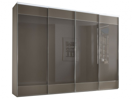 Staud Sonate Polino Schwebetürenschrank Schrankgröße, Korpus in Dekor und Front mit Glasauflage zur Wahl