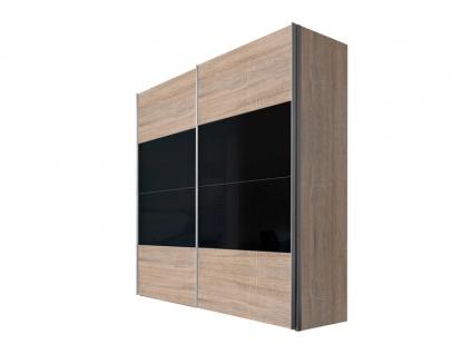 Nolte Express Möbel Four You Schwebetürenschrank Korpus in Dekor Front Dekor kombiniert mit Glas, Höhe und Breite wählbar