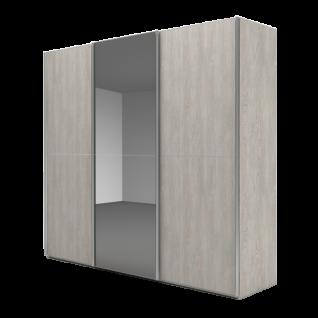 Nolte Möbel Marcato 2.2 Schwebetürenschrank Ausführung 2 mit 3 waagerechten Sprossen Front A Glas Grauspiegel Front B Dekor Farbausführung