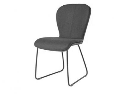 Küchenstuhl Blake Schlitten Komfort mit Uni-Mattenpolsterung Stuhl 611C für Esszimmer Esszimmerstuhl Gestellausführung und Bezug in Leder oder Stoff wählbar
