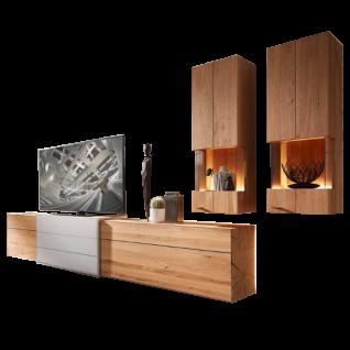 Die Hausmarke Media Massiv Wohnwand 58 0002 bestehend aus einem Lowboard und zwei Hängeelementen in wählbarer Ausführung ideal für ihr Wohnzimmer