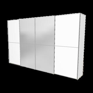 Nolte Möbel Marcato 2.2 Schwebetüren-Panoramaschrank Ausführung 2 mit 3 waagerechten Sprossen Frontausführung in Kristallspiegel oder Dekor und Schrankgröße wählbar