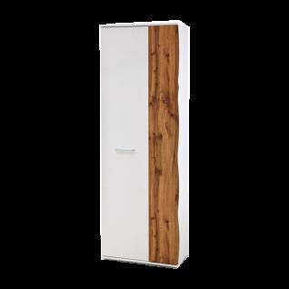 MCA furniture Granada Gaderobenschrank GRX1FT83 Front Weiß hochglanz Acryl Lack, Korpus weiß matt für Ihre Diele