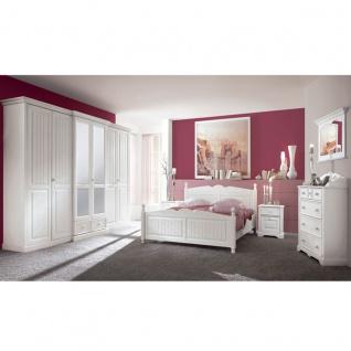 Schlafkontor Cinderella Premium Schlafzimmer 2-teilig bestehend aus einem 6-türigen Schrank und einem Bett Liegefläche ca. 180 x 200 cm optional Nachtkommode und Kommode wählbar