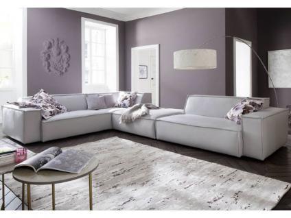 Candy Ecksofa Upper East für Wohnzimmer in Stoff oder Leder Ausführung wählbar Couch spiegelverkehrt stellbar