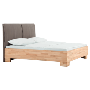 Dico Möbel Massivholzbett Massiva in Kernbuche geölt mit Polsterkopfteil Liegefläche wählbar optional mit Nachttisch - Vorschau 1