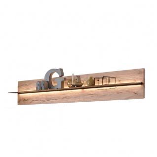 Hartmann Talis Wandpaneel 5201 oder 5202 mit einem Ablageboden Baustahl / Rückwand aus Massivholz Riffbuche