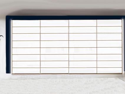Nolte Marcato Schwebetüren-Panoramaschrank 4-türig Ausführung 4 mit Glastüren und / oder Grauspiegel, Größe, Front- und Korpusfarbe wählbar