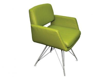 K+W Silaxx 6115 1C Sessel mit Vierfuß Edelstahl mit Metallstreben KW Möbel Sessel für Esszimmer Bezug wählbar Stuhlsystem H2O