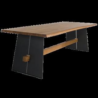 Bert Plantagie Esstisch Amar Tischplatte mit Stahlwangen und Querbalken feste Platte Tischgröße und Ausführung der Tischplatte sowie Gestells wählbar