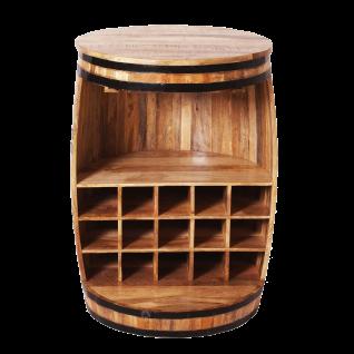 Sit Möbel RUSTIC Barschrank in Fassform lackiertes Mangoholz rustikales Weinregal