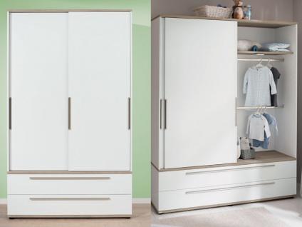 Paidi Carlo 3-teiliges Babyzimmer bestehend aus Kinderbett mit Airwell Comfort Lattenrost und Airwell 100 Kaltschaummatratze Wickelkommode 2-türiger Schiebetürenschrank schmal - Vorschau 3