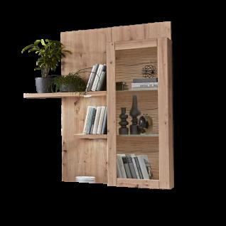 Ideal-Möbel Tessa 2-teilige Wandboardkombination in Eiche Artisan Melamin mit Hängeschrank mit 3D Rückwand geschroppt und Paneel