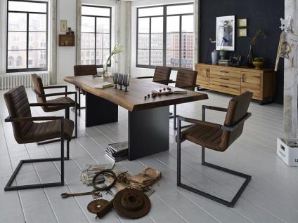 Bodahl Nature Esstisch rustic oak mit Wangengestell und Baumkante Massivholz Tisch ca. 100 cm breit Speisezimmertisch in vier Längen und sieben Ausführungen wählbar - Vorschau 3