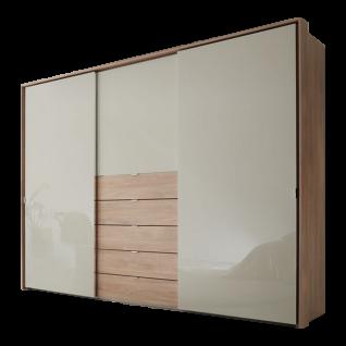 Staud Möbel Media Multi Schwebetürenschrank mit 5 Schubkästen Korpus und Schubkastenfront in Dekor Türen verglast Größe und Farben wählbar - Vorschau 1