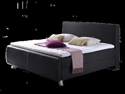 Meise Möbel Boxspringbett Amadeo mit Kunstlederbezug Farbe und Liegefläche wählbar Box und Matratze mit 7-Zonen-Taschenfederkern Matratze XXL optional mit Topper