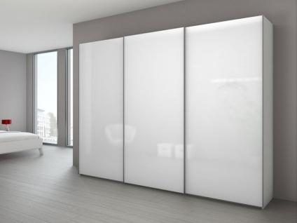 Nolte Marcato Schwebetürenschrank Kleiderschrank Ausführung 1C Korpus, Glasfrontvarianten wählbar