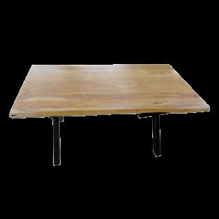Sit Möbel Esstisch Tischplatte Akazie Baumkante Metallgestell schwarz