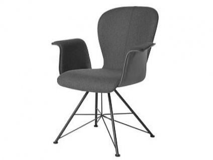 Bert Plantagie Blake Spin mit Uni-Polsterung und Armlehnen Stuhl 633 für Esszimmer Esszimmerstuhl Gestellausführung und Bezug in Leder oder Stoff wählbar