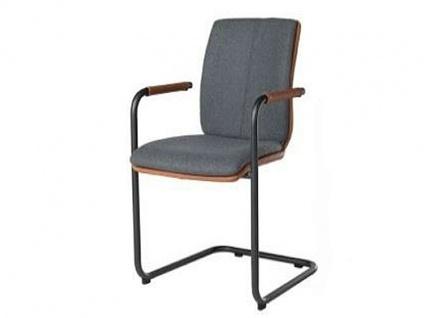 Bert Plantagie Stuhl Tara Freischwinger Komfort 824C oder 827C mit Bi-Color-Mattenpolsterung Polsterstuhl für Esszimmer Esszimmerstuhl Gestellform Gestellausführung und Bezug in Leder oder Stoff wählbar