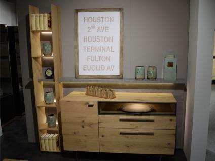 Gwinner Laredo Sideboardkombination LD7 Sideboard für Wohnzimmer oder Gästezimmer Korpus und Front Balkeneiche furniert Akzentausführung wählbar und mit oder ohne Beleuchtung wählbar