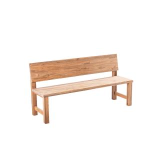 Niehoff Garden Unit Sitzbank in wählbarer Größe Gartenbank aus Teak Massivholz recycled für Garten oder Terrasse Bank mit Werkbankgestell Sitz- und Rückenkissen wählbar