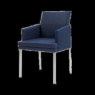 Wöstmann Sessel SINA 3 Stuhl mit Polstersitz und Polsterrücken einfarbig mit Vierfußgestell Bezug und Gestell wählbar