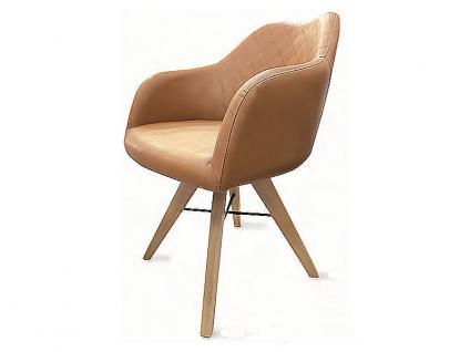 Standard Furniture Polstersessel Rimini mit Sitzschale F1 geschlossen, einfarbiger Essstuhl mit teilweiser Rautensteppung in verschiedenen Farben lieferbar, Gestellausführung wählbar