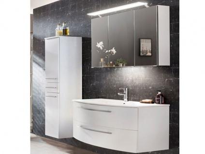 W.Schildmeyer Möbel Linus Badmöbel Set 3-tlg. für Badezimmer mit Spiegelschrank Waschtisch und Hochschrank