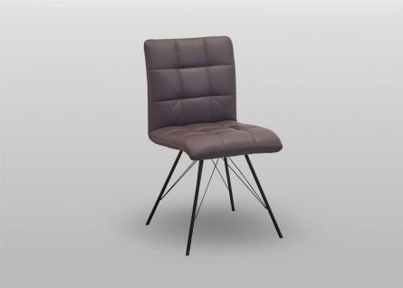 K+W Silaxx 6152 4-Fuß-Stuhl 1B Rücken mit Kassettensteppung Bezug Stoff oder Leder Ausführung wählbar