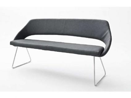 MCA Kufenbank Dajana Bezug Kunstleder Argentina Gestell Rundrohr Edelstahl gebürstet Ausführung wählbar Wohnzimmer Esszimmer Furniture
