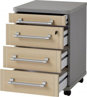 Germania Profi Rollcontainer 0655 in wählbarer Farbkombination mit vier Schubkästen davon ein Schubkasten abschließbar ideal für Homeoffice oder Büro - Vorschau 2