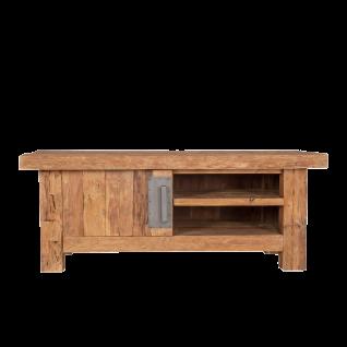 Sit Möbel CORAL Lowboard mit Tür aus recycelten Teakholz Metallgriff
