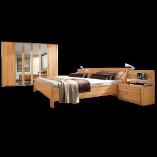 Disselkamp Coretta Schlafzimmer Doppelbett Nachtkonsolen Drehtürenschrank Front und Korpus wählbar