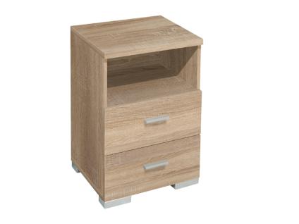 Mäusbacher Schubkastenkommode Eight 0808_02 Kommode mit 2 Schubkästen und 1 offenen Fach für Wohnzimmer Esszimmer Garderobe oder Schlafzimmer mit wählbarem Dekor