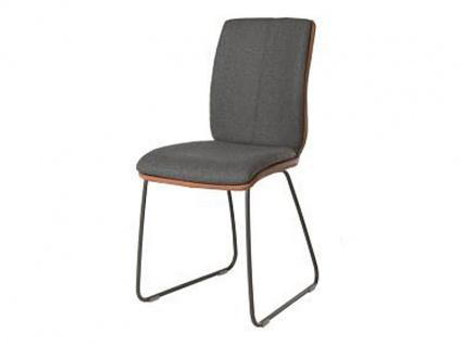 Bert Plantagie Stuhl Tara Schlitten Komfort 811C mit Bi-Color-Mattenpolsterung Polsterstuhl für Esszimmer Esszimmerstuhl Gestellausführung und Bezug in Leder oder Stoff wählbar