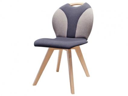 DKK Klose Stuhl S61 zweifarbige Polsterung mit runder Lehne Polsterstuhl für Esszimmer Gestellausführungen Griff und Bezüge wählbar