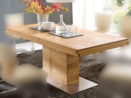 Wimmer Atria FIX Säulentisch Massivholz mit fester Tischplatte in verschiedenen Längen und Breiten wählbar für Esszimmer und Küche