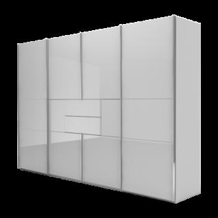 Nolte Möbel Marcato 2.4 Schwebetüren-Panoramaschrank 4-türig Ausführung 4A mit 4 waagerechten Sprossen 2 Schubkästen und Synchronbeschlag Schrankgröße und Farbausführung frei konfigurierbar