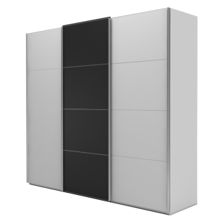 Nolte Möbel Marcato 2.5 Schwebetürenschrank Ausführung 5 mit 5 waagerechten Sprossen Korpus und Front Dekor Farbausführung und Schrankgröße wählbar