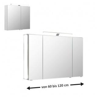 Pelipal 6110 Spiegelschrank in vielen Größen mit Aufsatzleuchte für Ihr Badezimmer Spiegelgröße wählbar