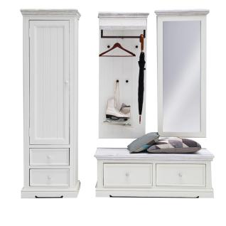garderobe kiefer g nstig sicher kaufen bei yatego. Black Bedroom Furniture Sets. Home Design Ideas