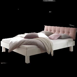 Hasena Fine-Line Moderno Bett bestehend aus Bettrahmen Trento 16 Polsterkopfteil Ronna Füße Cantu Liegefläche ca. 180 x 200 cm optional mit Längstraverse