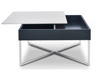 Ronald Schmitt Design Couchtisch WEGA K 449 quadratische Tischplatte schwenkbar ca. 70 x 70 cm Tischplattenausführung Korpusfarbe Gestellausführung und Gestellfarbe wählbar Tisch für Wohnzimmer oder Gästezimmer