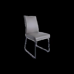 K+W Silaxx Stuhl 6017 mit einem hochwertigen Stahlrohrrahmen und einer soliden Schaumpolsterung in Sitz und Rücken sowie in einer Vielzahl an prachtvollen Bezügen aus Stoff oder Leder